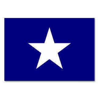 Bandera azul de Bonnie con la tarjeta blanca