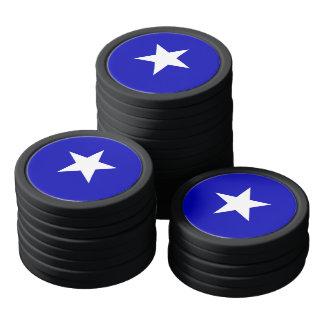 Bandera azul de Bonnie Fichas De Póquer