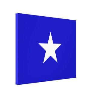 Bandera azul de Bonnie Impresión En Lienzo
