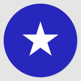 Bandera azul de Bonnie Pegatina Redonda