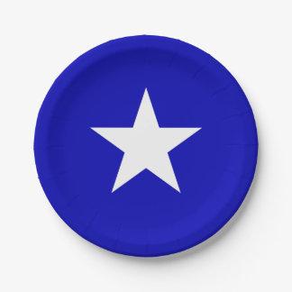 Bandera azul de Bonnie Plato De Papel