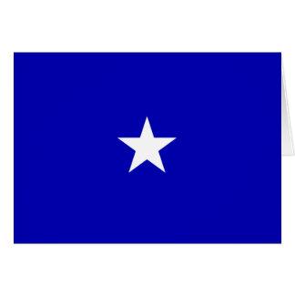 Bandera azul de Bonnie Tarjeta De Felicitación
