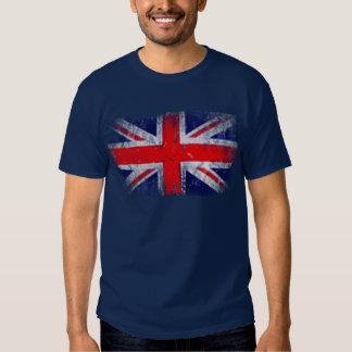 Bandera azul y roja de Inglaterra Camisetas