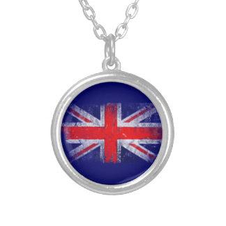 Bandera azul y roja de Inglaterra Colgante Redondo