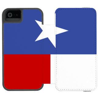 Bandera azul y roja del zafiro de Tejas Funda Cartera Para iPhone 5 Watson