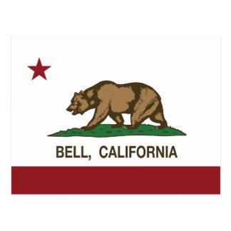Bandera Bell del estado de California Tarjetas Postales