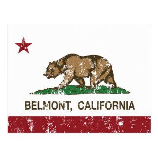 Bandera Belmont del estado de California Postal