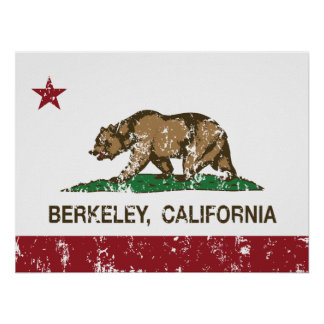 bandera Berkeley de California apenado Impresiones