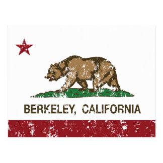 bandera Berkeley de California apenado Tarjetas Postales