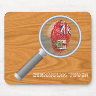 Bandera bermude6na de la huella dactilar del tacto alfombrilla de ratón