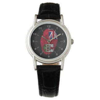 Bandera bermude6na de la huella dactilar del tacto reloj de pulsera