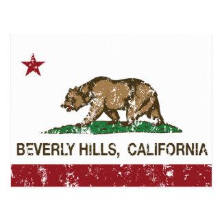 bandera Beverly Hills de California apenado Postal