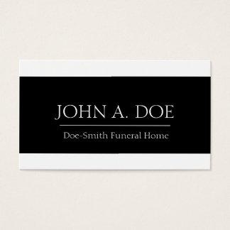 Bandera blanca/negra del director de funeraria tarjeta de negocios