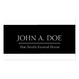 Bandera blanca/negra del director de funeraria plantillas de tarjeta de negocio