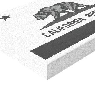 Bandera blanco y negro de la república de Californ Lienzo Envuelto Para Galerías