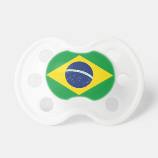 Bandera brasileña chupetes para bebés