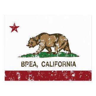 Bandera Brea del estado de California Tarjetas Postales
