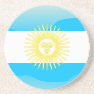 Bandera brillante argentina apoyavasos