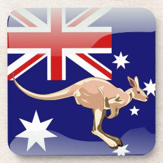 Bandera brillante australiana posavasos