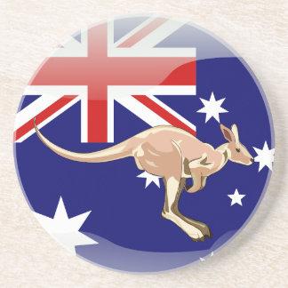 Bandera brillante australiana posavasos de arenisca