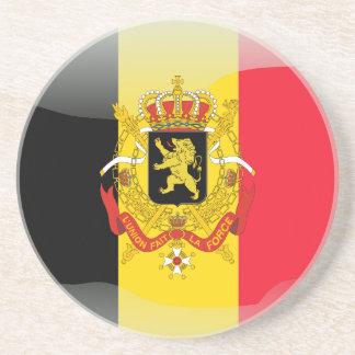 Bandera brillante belga apoyavasos