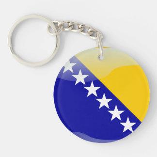 Bandera brillante bosnio llavero