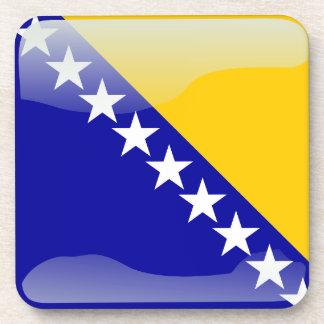 Bandera brillante bosnio posavasos