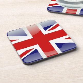 Bandera brillante británica posavasos