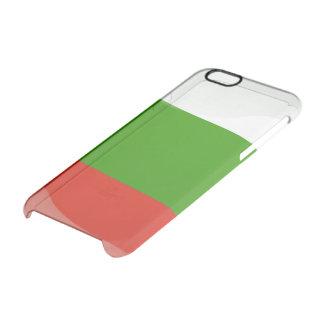 Bandera brillante búlgara funda transparente para iPhone 6/6S