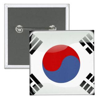 Bandera brillante coreana chapa cuadrada