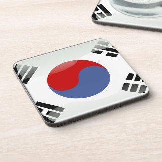 Bandera brillante coreana posavasos