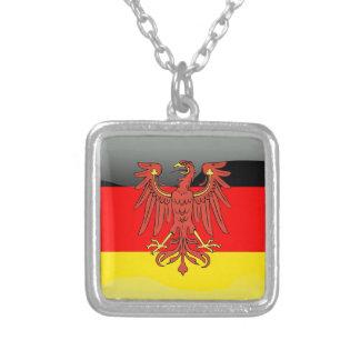 Bandera brillante de Alemania Collar Plateado