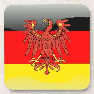 Bandera brillante de Alemania Posavasos