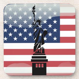 Bandera brillante de Estados Unidos Posavasos