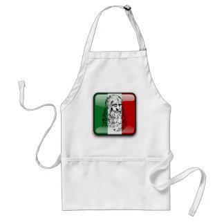 Bandera brillante de Italia Delantal