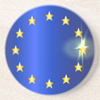 Bandera brillante de la UE Posavasos