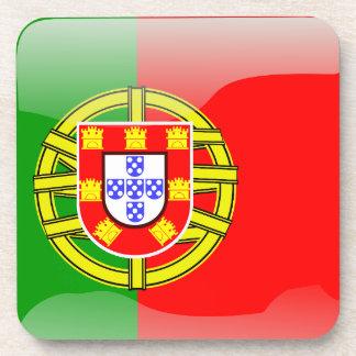 Bandera brillante de Portugal Posavasos