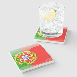 Bandera brillante de Portugal Posavasos De Piedra
