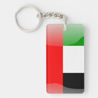 Bandera brillante de United Arab Emirates Llavero