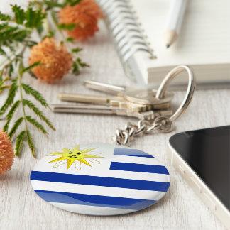 Bandera brillante de Uruguay Llavero