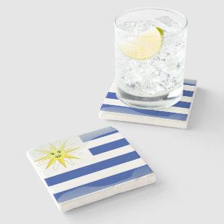 Bandera brillante de Uruguay Posavasos De Piedra