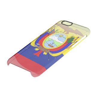 Bandera brillante del Ecuadorian Funda Transparente Para iPhone 6/6S