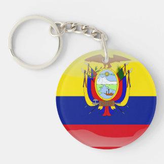 Bandera brillante del Ecuadorian Llavero