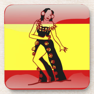 Bandera brillante española posavasos