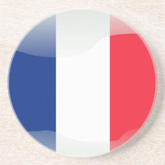 Bandera brillante francesa portavasos