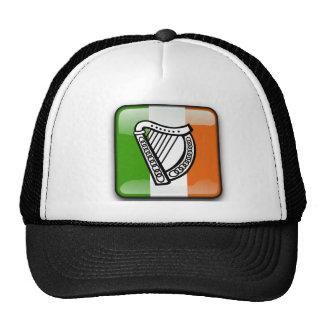 Bandera brillante irlandesa gorros bordados