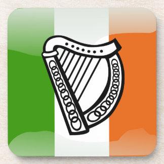 Bandera brillante irlandesa posavasos