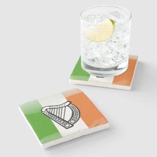 Bandera brillante irlandesa posavasos de piedra