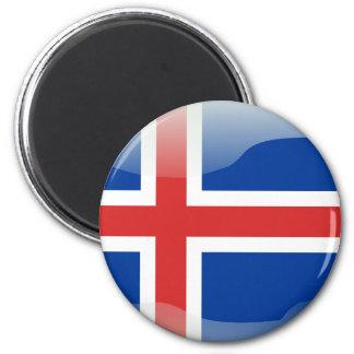 Bandera brillante islandesa imán