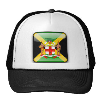 Bandera brillante jamaicana gorros bordados
